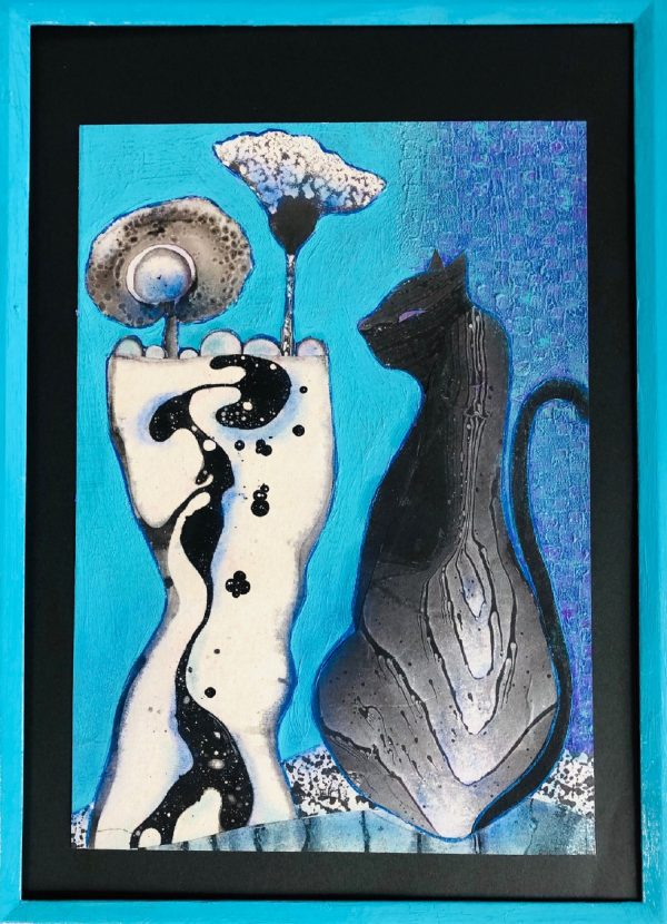 Cat and vase