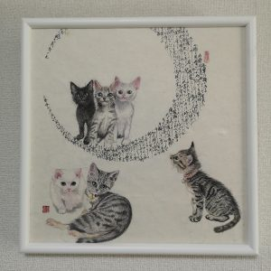Cute cats in the moon ~Wagahai wa neko de aru ~