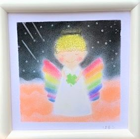 Rainbow feather angel