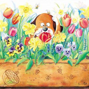 Flowerpot with bee