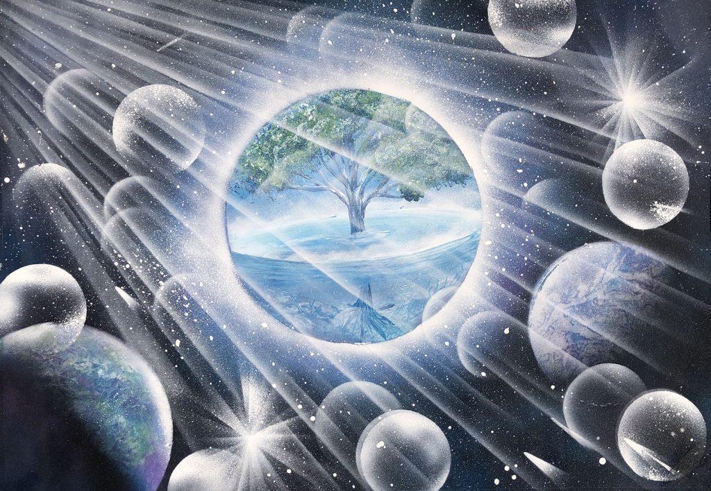 Floating source sphere