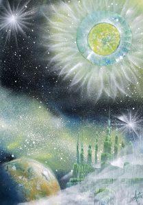 Healing green sun