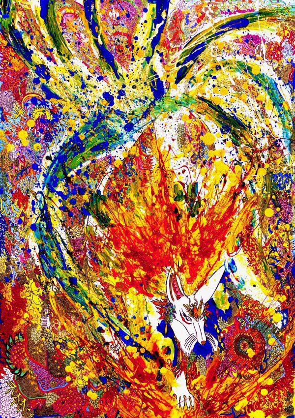 NARUTO NARUMIYA, acrylic painting, pen work
