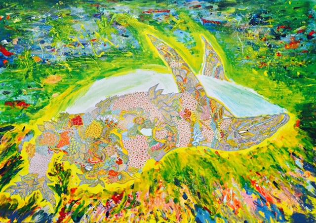 NARUTO NARUMIYA. acrylic painting, pen work