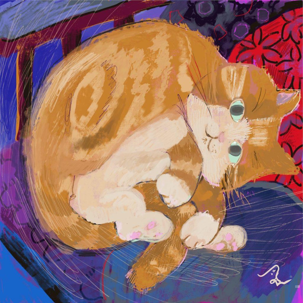 Caramel fat cat
