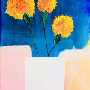 Marigold without a vase