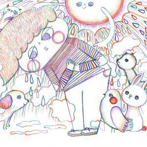 Ayano mori solo exhibition drawings and illustrations Japanese Art Styles - Modern and Traditional
