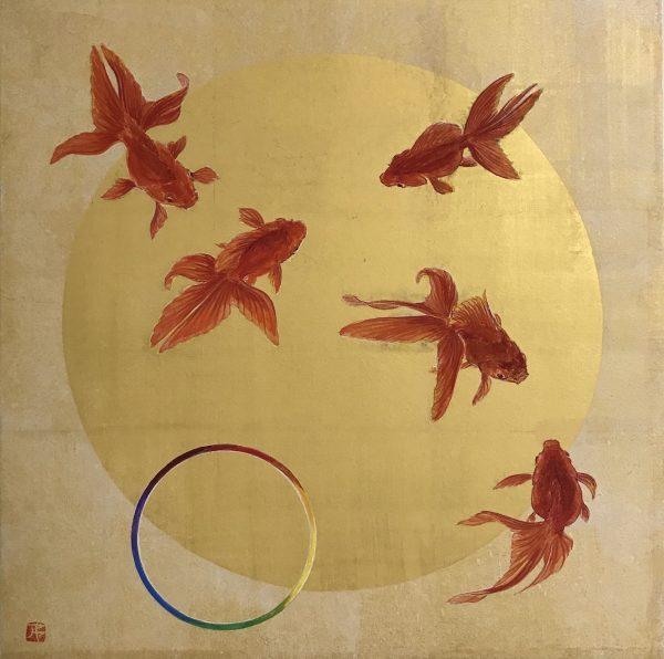 Dream Together by Aya Abe, Washi Paper, Nikawa, Japanese Art