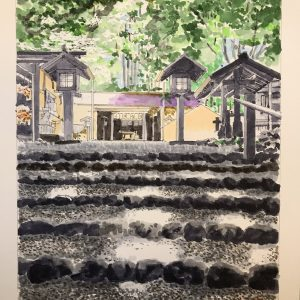 Japanese Culture and Paysage by Kiyoo Yamasita​ Japanese Art Modern and Traditional Styles Solo Exhibition