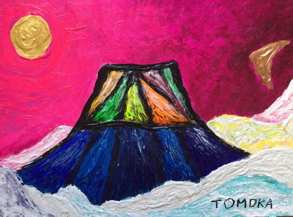TOMOKA Solo Exhibition - Drawing acrylic paintings   Japanese art