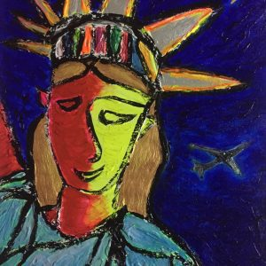 TOMOKA Solo Exhibition - Drawing acrylic paintings | NY Theme | Statue of Liberty