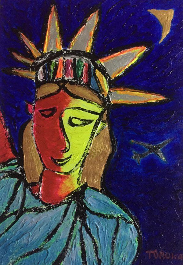 TOMOKA Solo Exhibition - Drawing acrylic paintings | NY Theme | Statue of Liberty