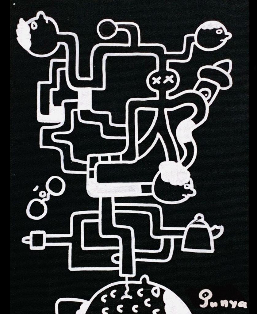 無表情絵描きストJUNYAの「空想世界展」Story.1 by JCAT artist Muhyojo Ekakist JUNYA.Online Solo Exhibition January - Online Exhibitions featuring original artwork and contemporary art on display at the JCAT Online Gallery