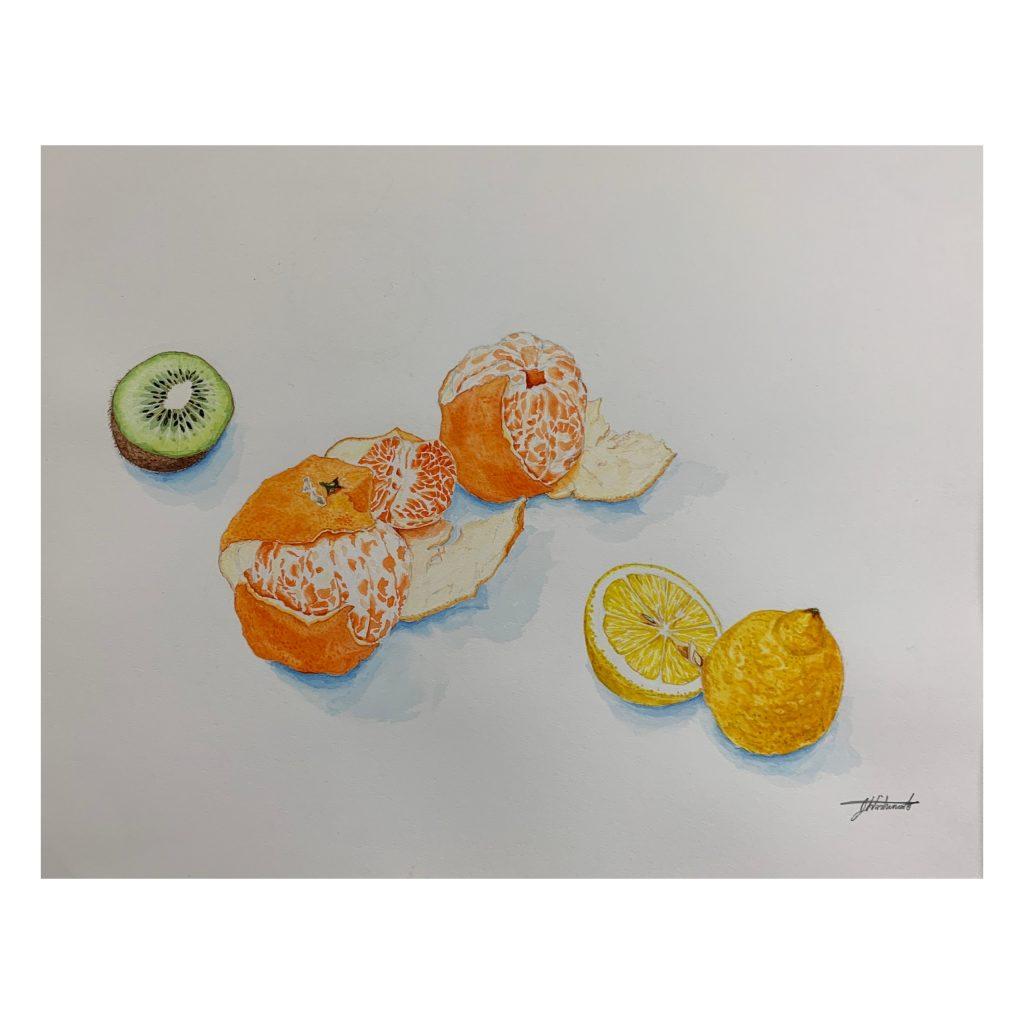 Fruits - Japanese painting
