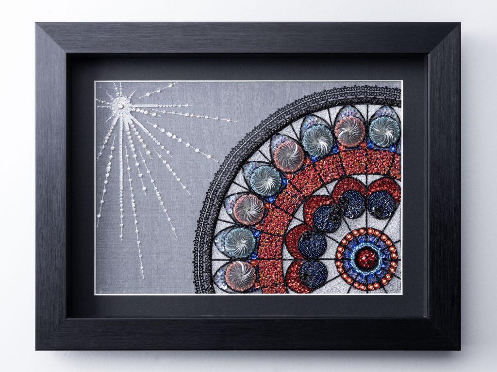 Rose Window Solo Exhibition 3D Embroidery by JCAT artist Etsuko Narita