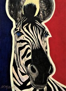Love and gratitude for nature(No.1:zebra)