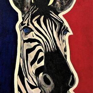Love and gratitude for nature(No.1:zebra)by JCAT artist and painter Noriko Miyamoto