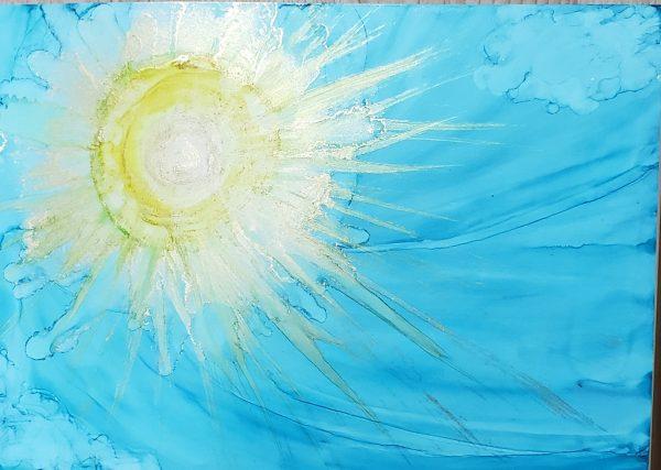 "richies sun by Japanese painter itsu Online Exhibition ""NO"" Art Sales Online Art Store"