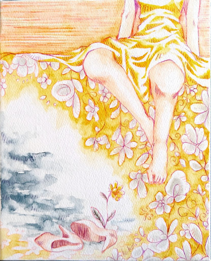 """Illustrator ke-ko Online Exhibition """"Flower"""" Art Sales Online Art Store"""