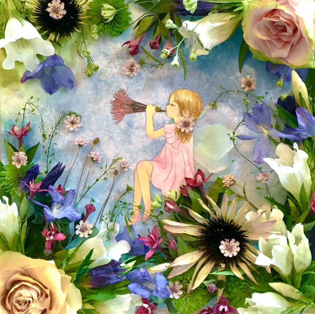 "Mixed media hiiro*kusabana.artist. Online Exhibition ""Flower"" Art Sales Online Art Store"