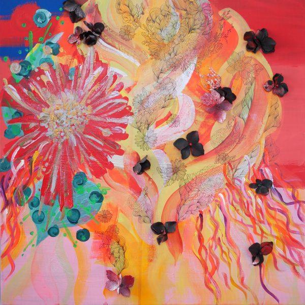 "Painter MIYUKI UMEZAWA Online Exhibition ""Flower"" Art Sales Online Art Store"