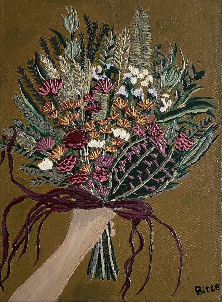 "Illustrator Bitte Online Exhibition ""Flower"" Art Sales Online Art Store"