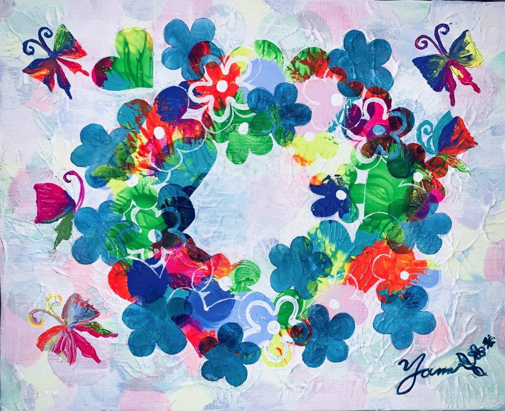 "Painter youme Online Exhibition ""Flower"" Art Sales Online Art Store"
