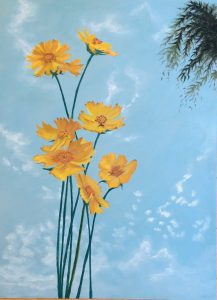 "Painter megu Online Exhibition ""Flower"" Art Sales Online Art Store"