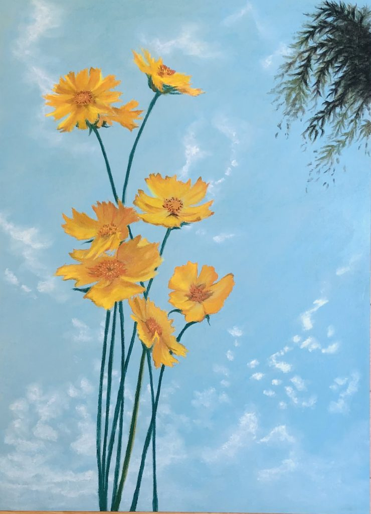 "Painter megu Online Exhibition ""Flower"" Art Sales Online Art Store"