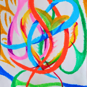 "Crayon Painter NIKAU Online Exhibition ""Flower"" Art Sales Online Art Store"
