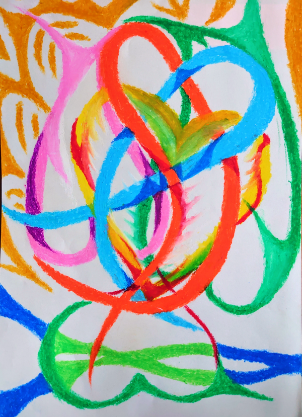 "Crayon Painter NIKAU Online Exhibition ""Flower"" Art Sales Online Art Store"