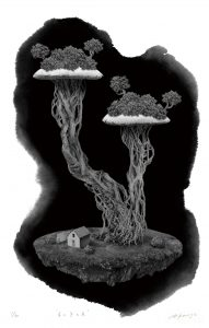 mushroom tree by Asayo Kawase