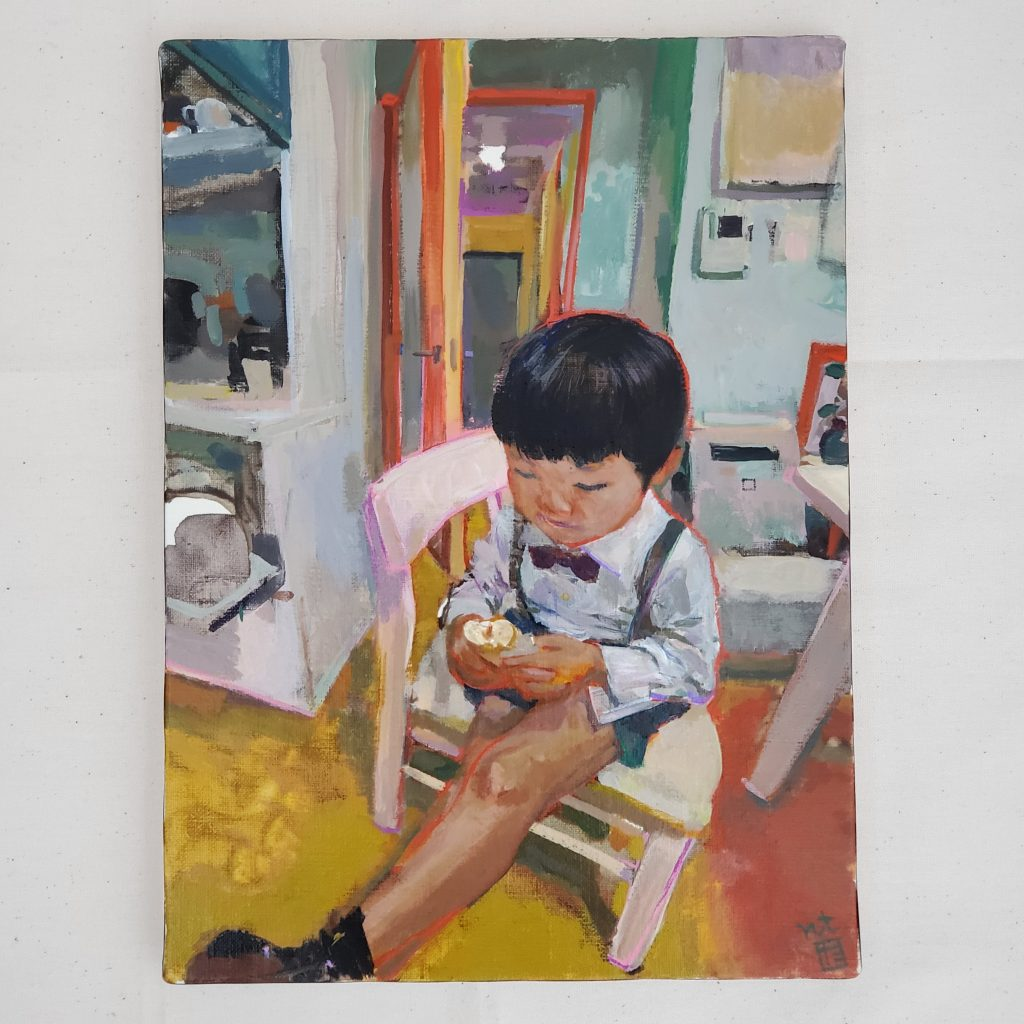 Nursery uniform and peanut butter bread by Tadashi-NISHIMORI