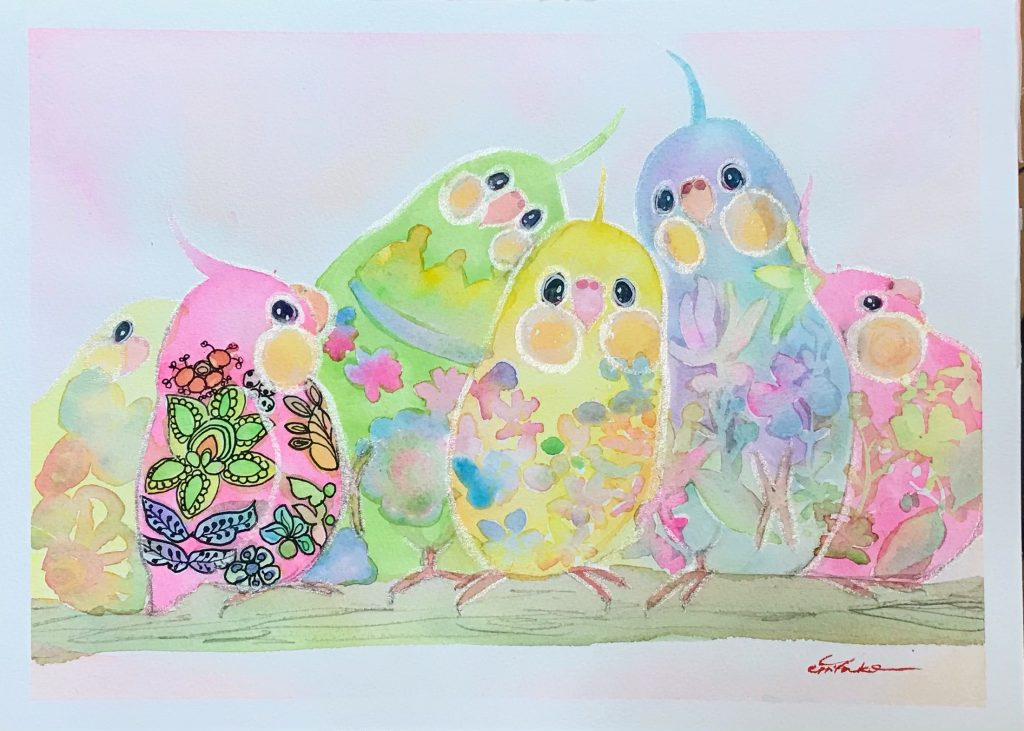 Rainbow cockatiel by chiyako