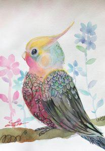 Healing bird by chiyako
