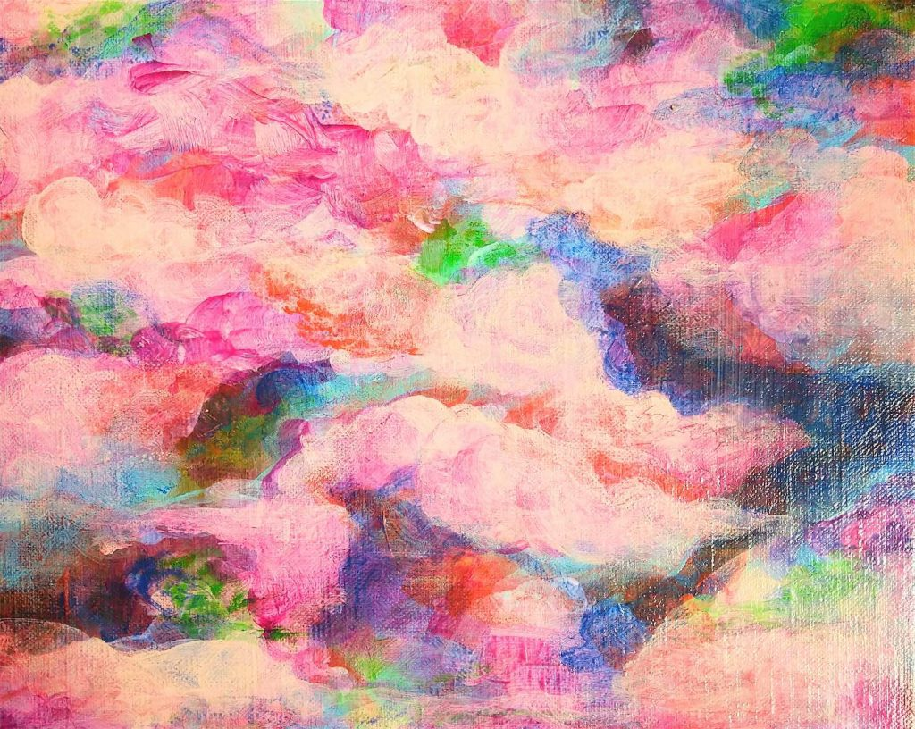 See you under the cherry blossom sky solo exhibition artwork by Casarin