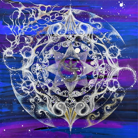 """MANDALA ARTIST YOKO CHATANI Solo Exhibition """"I believe in inspiration expressed freely in Mandala"""" at JCAT Online Gallery"""