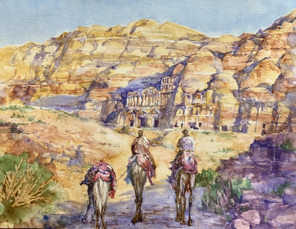 Watercolor Paintings by O'Rainbow Online Solo Exhibition May - Online Exhibitions featuring original artwork and contemporary art on display at the JCAT Online Gallery