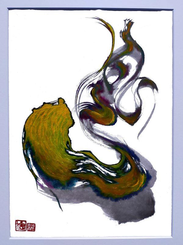 SHINICHI UEMURA - Dragon calligraphy - JCAT artist