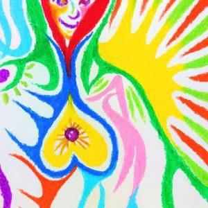 NIKAU crayon painting