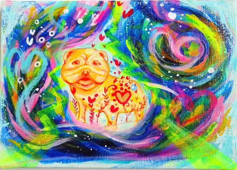 Happy Bulldog Painter