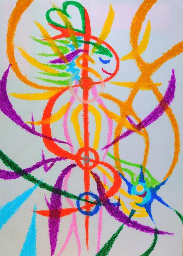 NIKAU crayon paintings