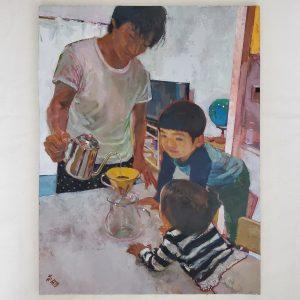 Tadashi-NISHIMORI Japanese oil painter and JCAT artist