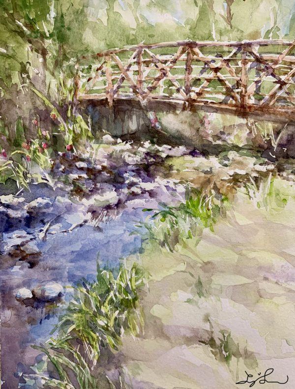Beaver Creek by O'Rainbow Japanese Watercolor paintings