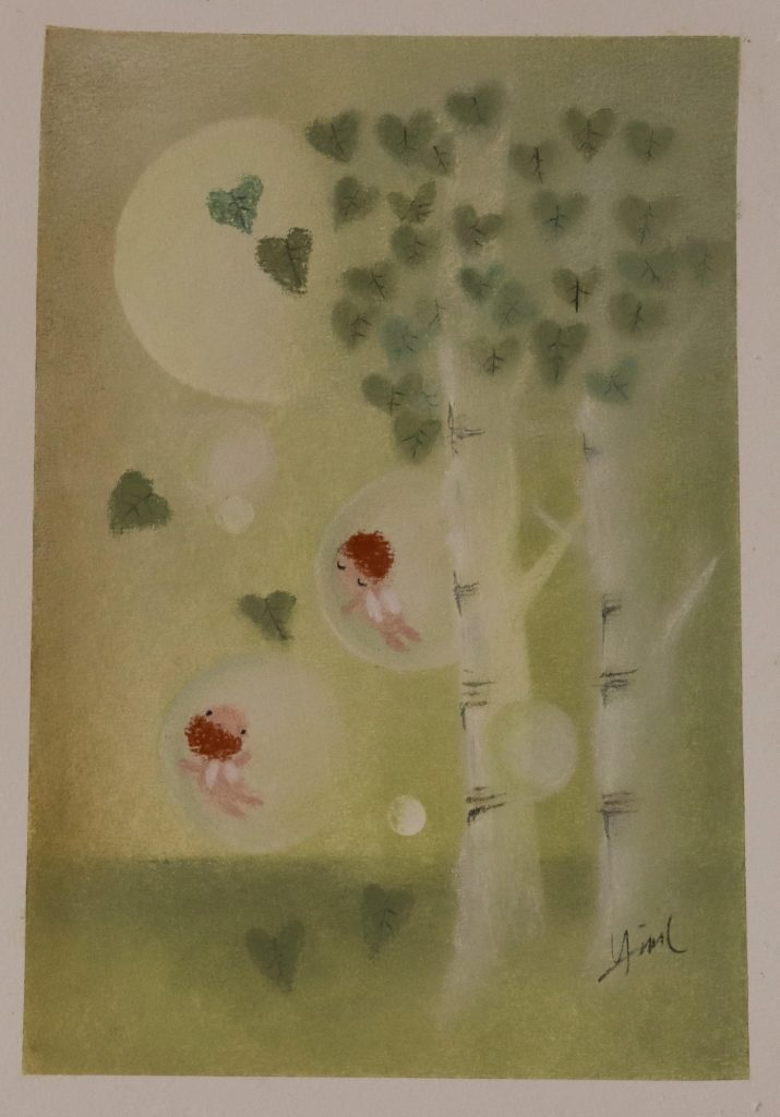 soft pastel painting on watercolor paper by Hiromi's Hana Art