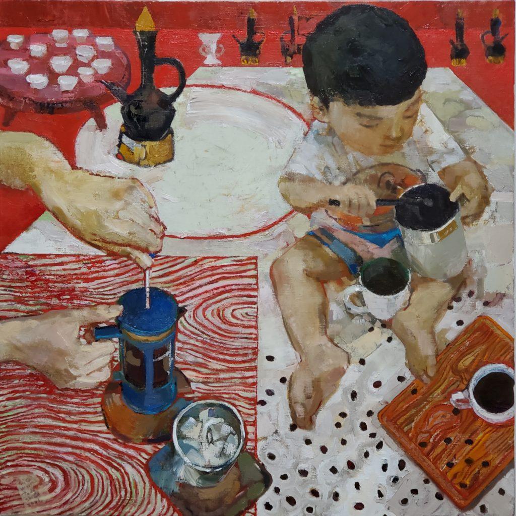 My Kariomon Japanese artist oil painter Tadashi-NISHIMORI