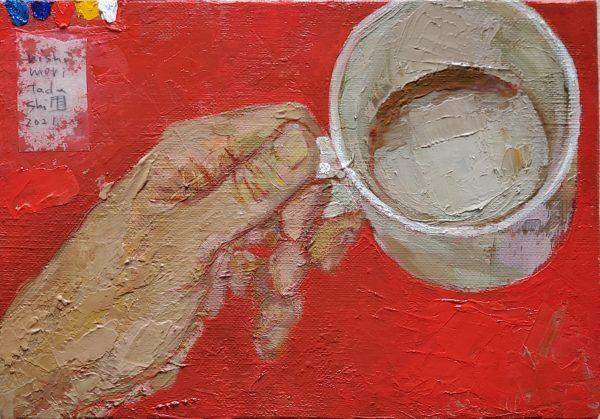 A Cup Of Coffee Japanese artist oil painter Tadashi-NISHIMORI