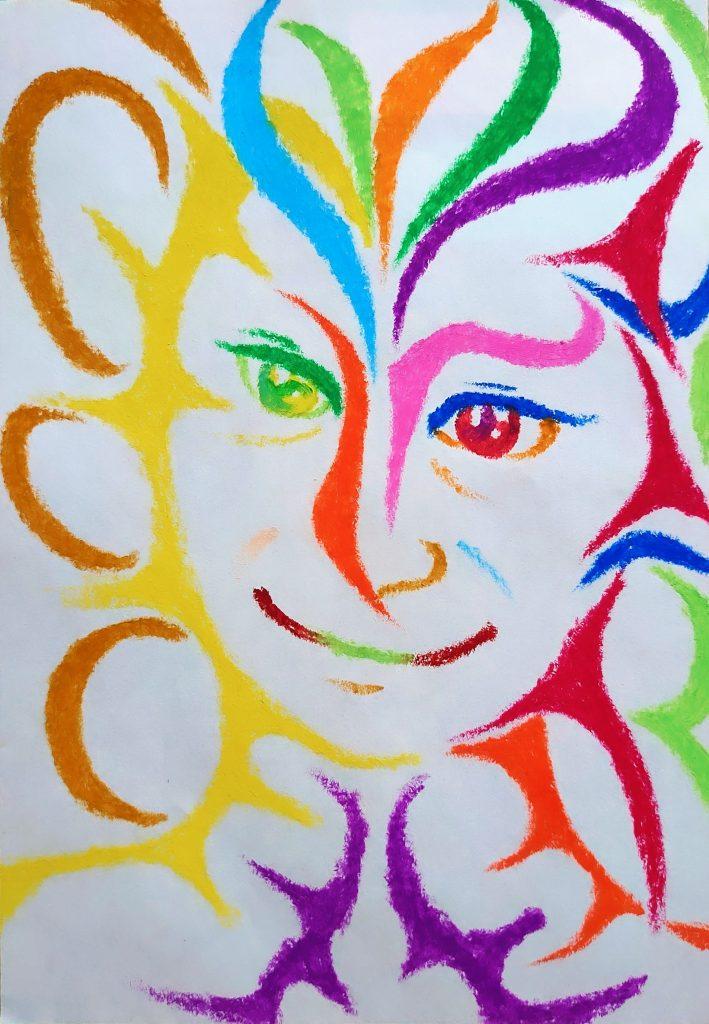 WATCH OVER = MIMAMORU by Japanese crayon artist and painter NIKAU
